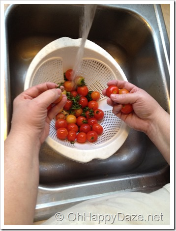 Rinsing Tomatoes