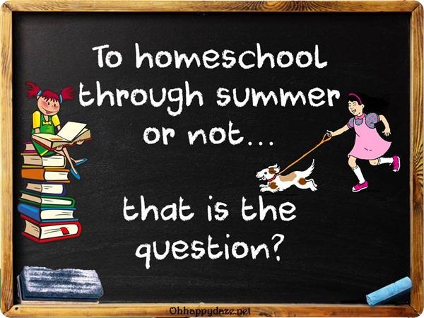 Homeschool in Summer