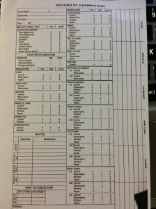 Record of Examination