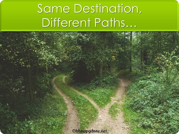 Same Destination Different Paths: A personal thought on 1 Corinthians 12